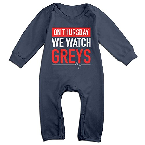 Baby Climbing Clothing Baby Long Sleeve Garment On Thursday We Watch Greys For Kids Boys Girls by LEUNG FAMILY-A