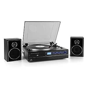 auna TCRD 993C Tocadiscos con Altavoces (Reproductor CD ...
