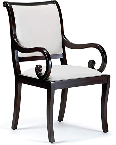 Amazon.com: Alden Parkes Arm Chair Helene Curved Arms ...