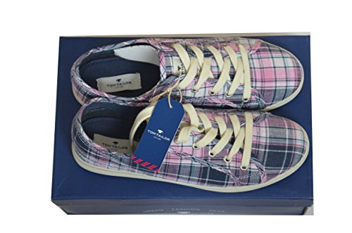 Tom Tailor Damen Schuhe Sneaker Sportschuhe Freizeitschuhe Gr. 40 Farbe: Lila / Rosa / Schwarz / Blau / Weiss Turnschuhe