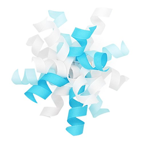 4'' wide, 6 Count Self-Adhesive Burst Bow Gift Wrap Accessory - Blue/LT Blue/White by CT CRAFT LLC
