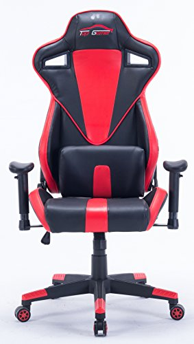 Top Gamer Gaming Chair PC Computer Game Chairs for Video Game (red-08) Top Gamer
