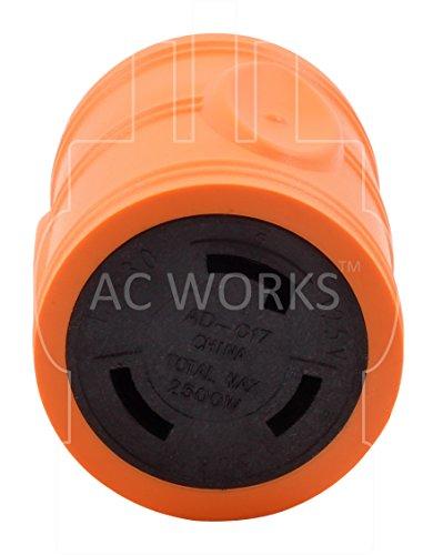 AC WORKS [ADL1430L530] Locking Adapter L14-30P 30A 125/250Volt 4-Prong Male Plug to L5-30R 3-Prong 30A 125Volt Locking Adapter by AC WORKS (Image #3)
