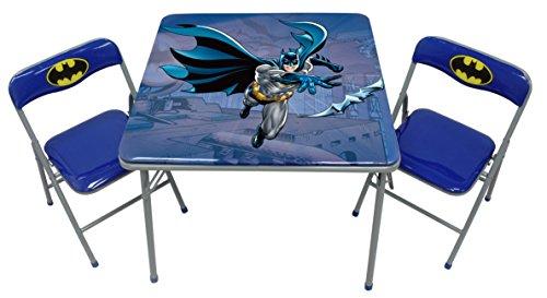 O'Kids Batman Metal Activity Table and Chair Set