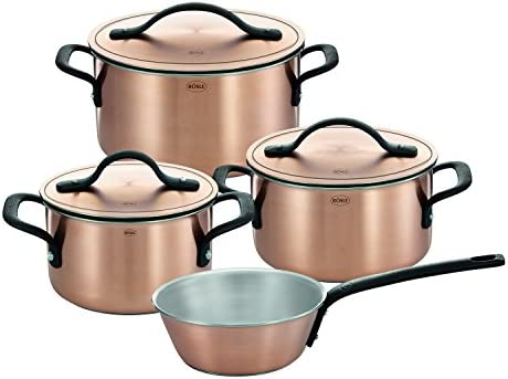 R sle Copper Chalet Cookware Set, 4 piece