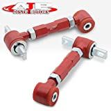 AJP Distributors Suspension Jdm Red Rear Camber Kit Adjustable Stability Racing With Red Bushing For Integra/Civic/Crx/Del Sol 1992 1993 1994 1995 1996 1997 1998 1999 2000