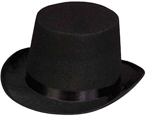Glossy Look Big Boys' Top Hat Felt Victorian Fancy Dress Costume Accessory One Size Black - Top Hats Fancy Dress