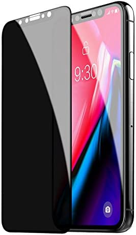 TECHO Privacy Screen Protector for iPhone 11 Pro/iPhone XS/iPhone X, [Full Coverage] [Case Friendly] [Super Clear] Anti-Spy 9H Hardness Tempered Glass Screen Protectors for Apple iPhone 11 Pro