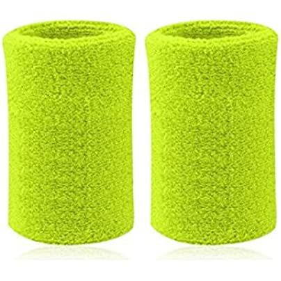 Kagogo Inch Long Thick Cotton Sports Wristband Sweatband For Basketball Tennis And Other Sports Price Pair Light Green Estimated Price £6.77 -
