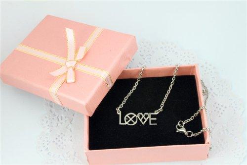 EXO Kpop Love Necklace Titanium Steel necklace and Alloy EXO logo bracelet New collection unit or set sale (EXO Love Necklace) (Baekhyun Necklace)
