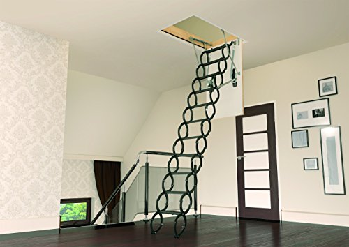Fakro Lst 66820 Insulated Steel Scissor Attic Ladder For