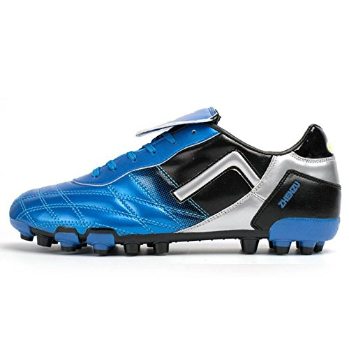 Xing Lin Chaussures De Football Chaussures Hommes Et Femmes Chaussures De Formation Les Étudiants Adultes À Pied En Cuir Chaussures De Football Pour Enfants Ag Broken Nails Gazon Artificiel, 39, Bleu