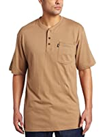 Key Apparel Men's Short-Sleeve Heavyweight Three-Button Henley