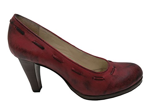 Damen Trachtenpumps Dirndlschuhe rot Leder Spieth&Wensky Rot