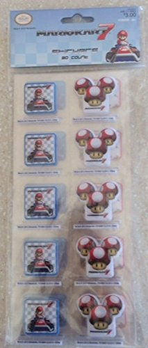 Price comparison product image Mario Kart 7 Puffy 3-D Stickers- 30 Count