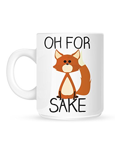 Amazon.com | Oh For Fox Sake White Mug: Coffee Cups & Mugs