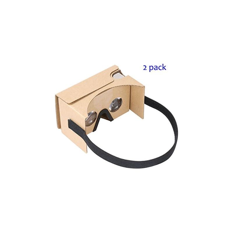 Google Cardboard v2 by IHUAQI 2 Pack wit