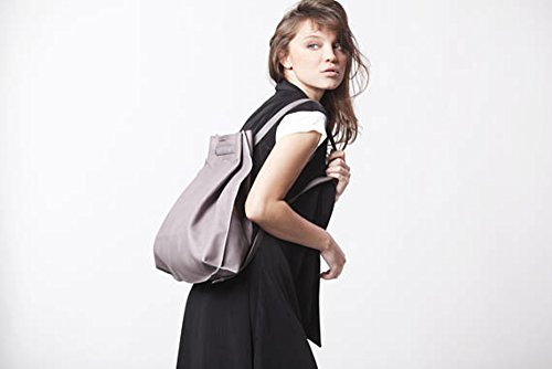 Genuine Soft Smooth Everyday Taupe Leather Small Rucksack Backpack by Lady Bird Bags