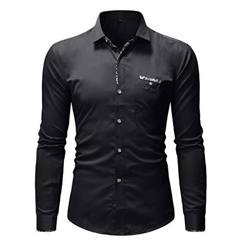 - Mens Summer t Shirts Short Sleeve Tronet Fashion Pure Color Pocket Shirt Long Sleeve Blouse Top