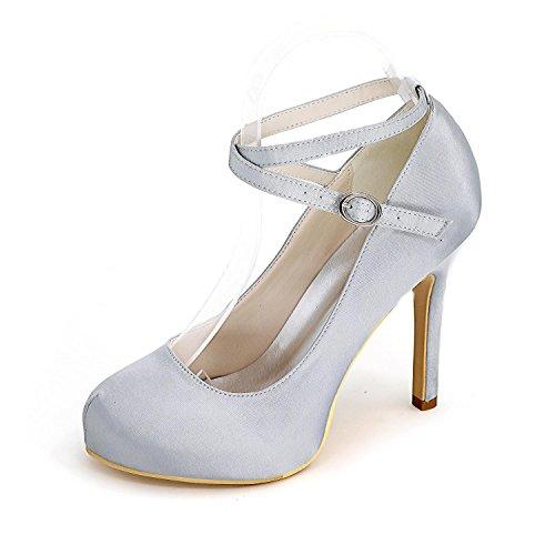 High Aguja Tacón Shoeszapatos Para Zapatos Boda 09 De Mujer Disponibles Y personalizado Gray Más fiesta 6915 Elegant Colores RqzdH5wR