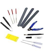 ACAMPTAR Kit de Herramientas Modelo de 14 Piezas Herramientas de ConstruccióN de Hobby Juego de Manualidades para la ConstruccióN, ReparacióN y FijacióN de Modelos BáSicos.