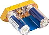 Brady M61-R4410-BL BMP61 Series Printer Ribbon R4400 Resin, 2'' Width x 75' Length, Blue