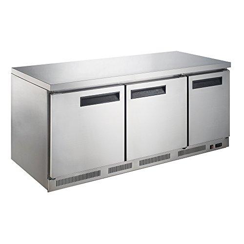 Door Undercounter 3 Refrigerator (Dukers Appliance USA DUK600162378087 Commercial Undercounter Table Freezer, 3 Door, 72