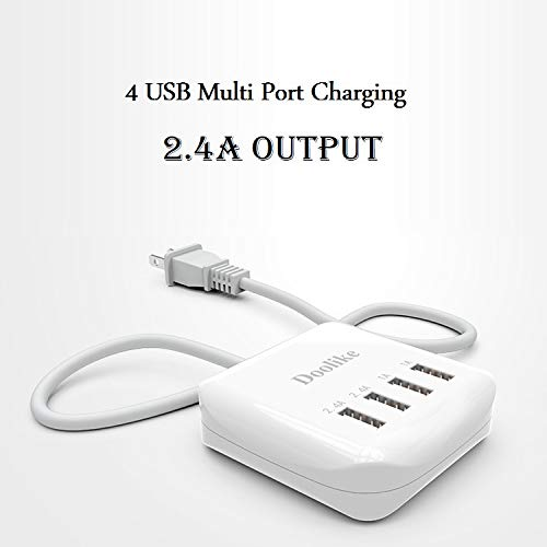 Doolike Universal 4 USB Ports Travel Charger Smart Multi Functional Adapter Charging Device for iOS Android