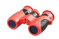BlueCabi 6x21mm Children Binoculars by Bresser - Shock-Proof Children Binoculars for Kids Binoculars for Bird Watching Binoculars Compact Binoculars - Red/Black