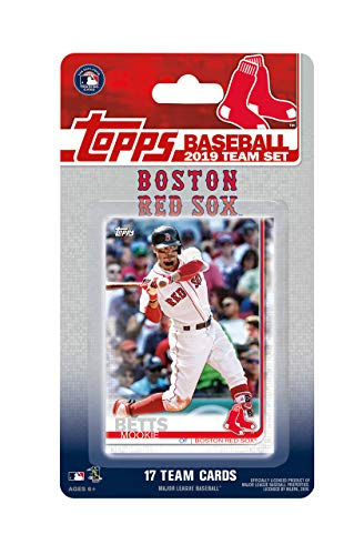 (Boston Red Sox 2019 Topps Factory Sealed Limited Edition 17 Card Team Set with Dustin Pedroia and Mookie Betts Plus)