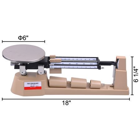 Triple Beam Mechanical Balance Precision 0.1 Gram Weight Scale Jewelry Lab Business Home AMW TB-2610