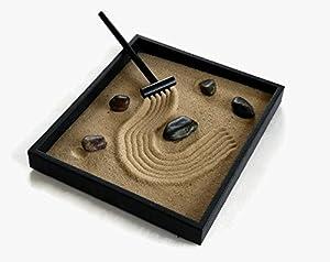 Zen Garden Kit Black Indoor Zen Garden Relaxation Gift Handmade