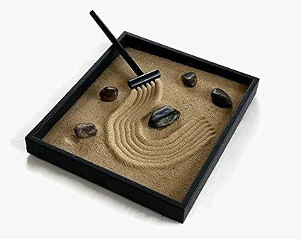 Superb Zen Garden Kit Black Indoor Zen Garden Relaxation Gift Handmade