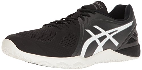 ASICS Men's Conviction X Cross-Trainer Shoe, Black White, 11 M US