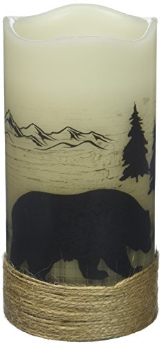 - Deco Flair LED4397 Bear LED Wilderness Silhouette Candles