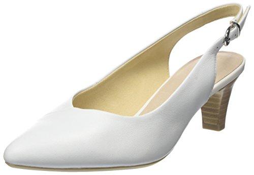 Caprice Damen 29699 Slingback Sandalen Weiß (White Nappa 102)