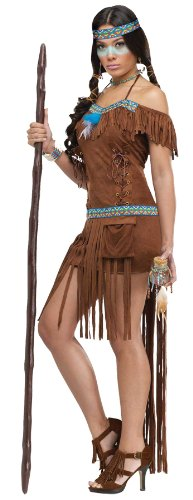 (FunWorld Medicine Woman, Brown, 2-8 Small Costume)