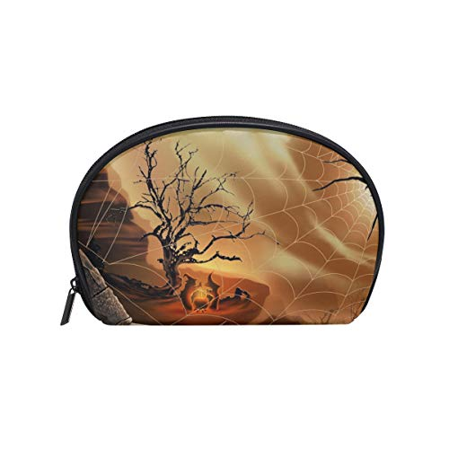 LORVIES Halloween Spirit Spider Web Cosmetic Pouch Clutch