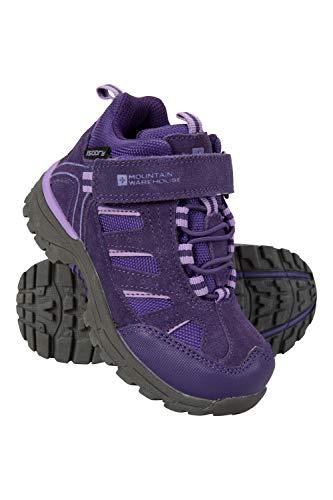 Image of Mountain Warehouse Drift Junior Kids Boots - Waterproof Walking Shoes Purple 11 Child US