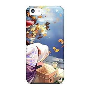 New Snap-on NikRun Skin Case Cover Compatible With Iphone 5c- Geisha Anime