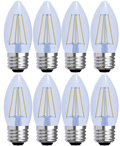 (GE Lighting Decorative Reveal LED 4-Watt (40-Watt Replacement), 240-Lumen Blunt Tip Light Bulb with Medium Base, 8-Pack)