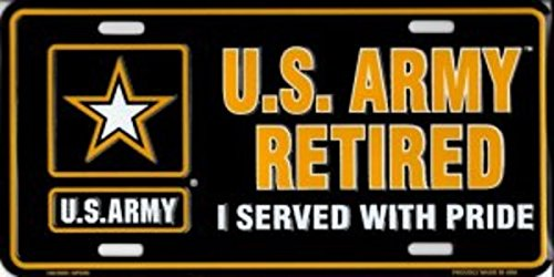 U.S. Army Retired Metal License - Retired Plate Army License