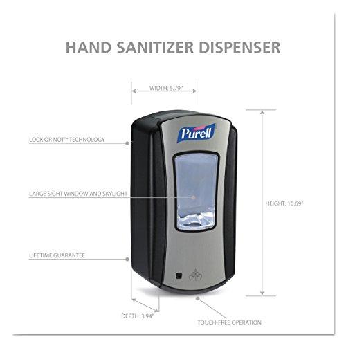 PURELL 1928-04 LTX-12 Touch-Free Hand Sanitizer Dispenser – Black, Dispenser for PURELL LTX-12 1200mL Refills by Purell (Image #6)