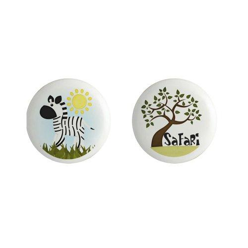 - Zebra Jungle Safari Tree Ceramic Cabinet Knobs or Drawer Pulls Set of 2
