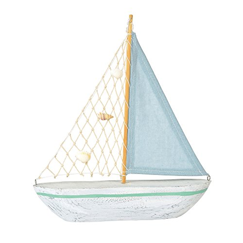 Department 56 Gone to The Beach Blue Sailboat, 12.2