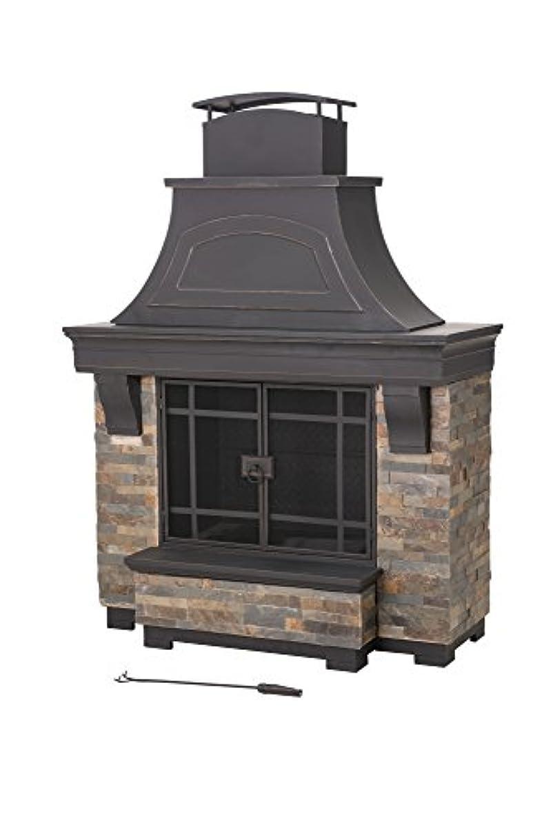 Sunjoy Jasper Wood Burning Fireplace Large Ebay