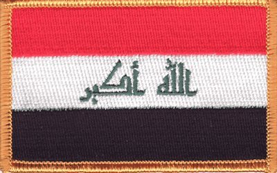 Iraq iron-on embroidered patch