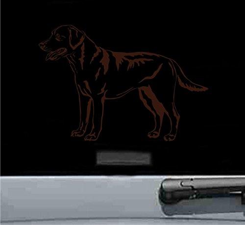 Labrador Chocolate Sticker (Labrador Retriever Vinyl Decal Sticker (CHOCOLATE BROWN))