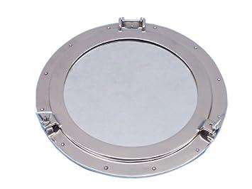 hampton nautical deluxe class chrome porthole mirror 20u0026quot