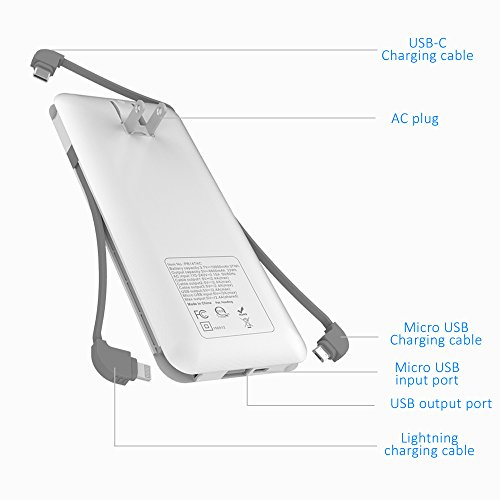 Heloideo 10000mAh Portable Charger Compact Power Bank External Battery Pack with Built-in AC Wall Pl - http://coolthings.us